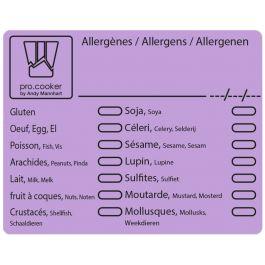 étiquette violette 5,60x7,10 cm Pro.cooker (500 pièces)