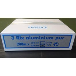 Rouleau film aluminium gris taille 33x200 cm