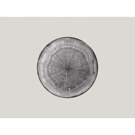 Assiette coupe plate rond beech porcelaine Ø 24 cm Woodart Rak