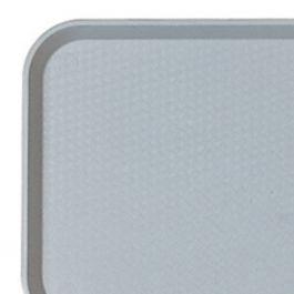 Plateau gris plastique bord droit Fast Food Cambro