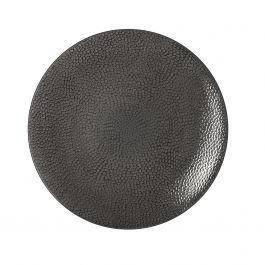 Assiette coupe plate ronde gris grès Ø 29 cm Stone Medard De Noblat
