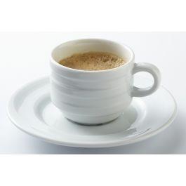 Tasse à expresso ronde blanc porcelaine 9 cl Ø 6 cm Ruby