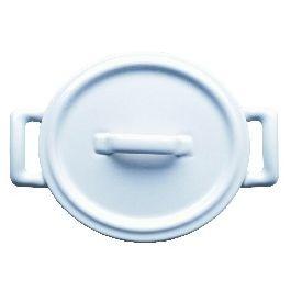 Cocotte avec couvercle ovale blanc porcelaine 12,20x13,50 cm Belle Cuisine Revol