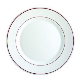Assiette plate ronde blanc verre Ø 25 cm Restaurant Filet Bordeaux Arcoroc