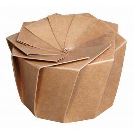 Boîte traiteur ronde Ø 15 cm 1100 ml Lotus Lelu (100 pièces)