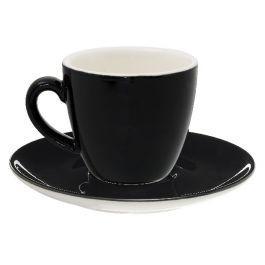 Sous-tasse à expresso ronde noire porcelaine Ø 12 cm Emotions Pro.mundi