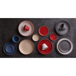 Sous-tasse à expresso ronde pebble porcelaine Ø 13 cm Artisan Ariane