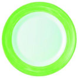 Assiette creuse ronde verte verre Ø 22,50 cm Brush Arcoroc