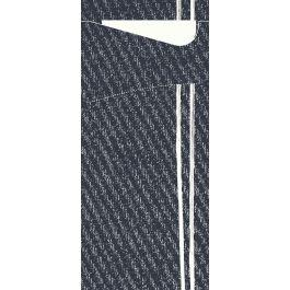 Pochette gris non tissé 8,50x19 cm Plate It Duni (100 pièces)