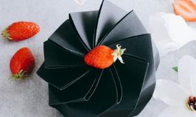 Boite en carton design Lotus noir