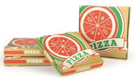 boite à pizza empilée