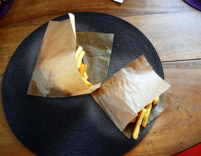 Frite dans un sachet craft